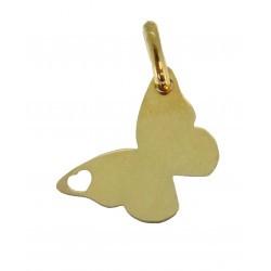 Médaille papillon repercé avec un coeur simple