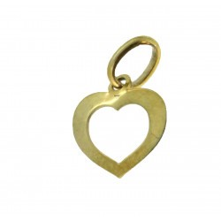Médaille moyen cœur évidé simple