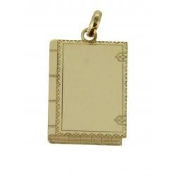 Médaille livre grimoire simple