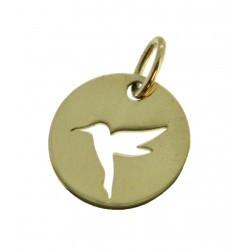 Médaille Silhouette colibri simple